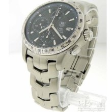 Authentic Men's Hy Cjf2114 Automatic Chronograph Date Watch + Box Bl
