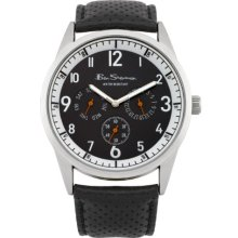 Ben Sherman Men's Quartz Watch With Black Dial Analogue Display And Black Leather Strap R911