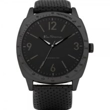 Ben Sherman Men's Quartz Watch With Blue Dial Analogue Display And Black Leather Strap R868