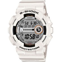 Casio Mens Lap Memory 60 Gloss White G-Shock Super GD110-7