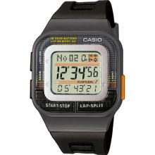 Casio Sdb-100-1Aef Ladies Watch Quartz Digital Multicolour Dial Black Resin Strap