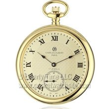Charles-Hubert 3912g Antique Style Mechanical 17 Jewel Pocket Watch