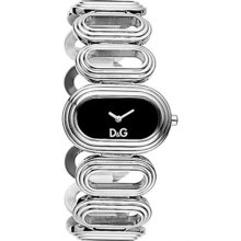 D&G Cortina Ladies Quartz Watch Dw0616 With Black Analogue Dial, Stainless Steel Case And Bracelet