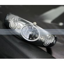 Fashion Crystal Ladies Women Gold Silver Black Bracelet Lady Quartz Wrist Watch