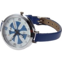 Fashion Ladies Women Thin Leather Band Quartz Wrist Watch T7