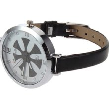 Fashion Ladies Women Thin Leather Band Quartz Wrist Watch Ge
