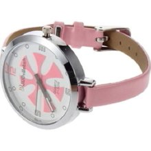 Fashion Ladies Women Thin Leather Band Quartz Wrist Watch O0