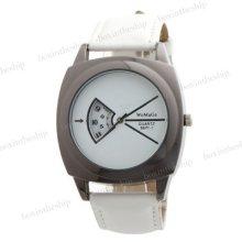 Fashion Men Women Leather Band Analog Quartz Casual Wrist Watch 5