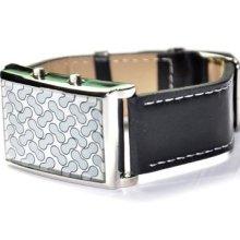 Fashional Leather Shell Concept Peanut Led Digital Wrist Watch Men Lady Gift