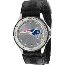 Game Time Official Team Colors Nfl-Vet-Ne Men'S Nfl-Vet-Ne Veteran Custom New England Patriots Veteran Series Watch