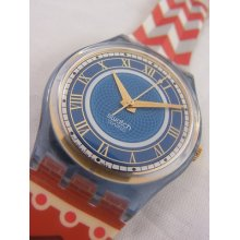 Gn135 Swatch 1994 Cathedral In Box Authentic Swiss