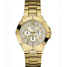 Guess Gold Tone Multifunction Ladies Watch U13576L1