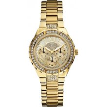 GUESS Gold Tone Stainless Steel Ladies Watch U0111L2