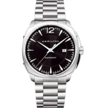 Hamilton H36515135 Watch Cushion Mens - Black Dial Stainless Steel Case Automatic Movement
