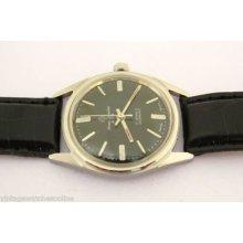 Henri Sandoz Black Dial 17j Winding Swiss Made Mens Vintage Old Used Wrist Watch