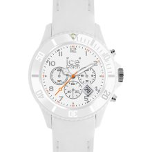 ICE Watch Chronograph Matte Silicone Strap Watch White