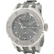 Invicta 1398 Men's Specialty Reserve Grey Dial Rubber strap GMT Watch