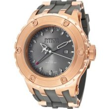 Invicta Men's Stainless Steel Reserve GMT Diver Gray Tone Dial Chronograph Rubber Strap 12033