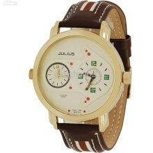 Julius Double Dial Double Movement Quartz Watch Vintage Mens Watch 8