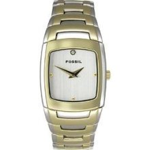 Ladies Fossil Gold Metal Dress Watch Es1287