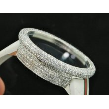 Mens Digital 2 Timezone Gucci White Diamond Watch 12+ct