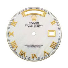 Mens Rolex Day-Date President AM White MOP Dial,Yellow Gold Roman