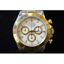Men's Rolex Stainless Steel & 18k Yellow Gold Two Tone Daytona Cosmograph 16523