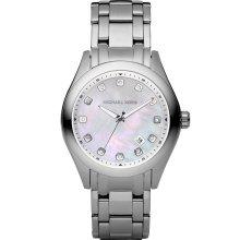 Michael Kors Women's Silvertone Mother Of Pearl Dial Watch MK5325