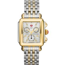 Michele MWW06P000122 Watch Deco Diamond Gold Ladies - MOP Dial Stainless Steel Case Quartz Movement