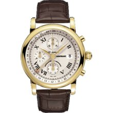 New Montblanc Star Chronograph Gmt Automatic Mens Watch 102135