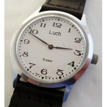 Rare Ussr Russian Watch Luch 15 Jewels 608