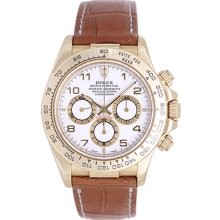 Rolex Zenith Cosmograph Daytona Men's 18k Yellow Gold Watch 16518