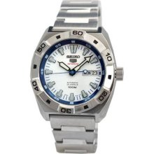 Seiko 5 Sports Automatic White Dial Stainless Steel Mens Watch Srp279