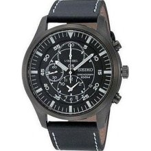 Seiko Chronograph Black Ion-plated Mens Watch SNDA21 ...