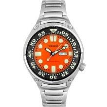 Seiko Men's Diver's Orange Dial Watch SHC059