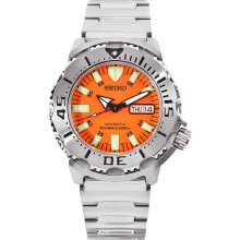 Seiko Men's Orange Monster Skx781k Stainless-Steel Automatic Watch With Orange Dial