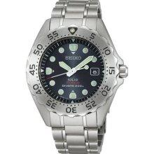 Seiko Prospex Sbdn001 Diver Scuba Solar Titanium Men Watch