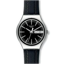 Swatch Irony Charcoal Suit Day-and-Date Black Dial Men's watch #YGS744