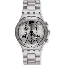 Swatch Men's Irony YCS566G Silver Stainless-Steel Swiss Quartz Watch
