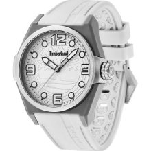 Timberland Radler Unisex Quartz Watch With White Dial Analogue Display And White Silicone Strap 13328Jpgys/04