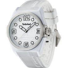 Timberland Radler Unisex Quartz Watch With White Dial Analogue Display And White Silicone Strap 13328Jpws/01