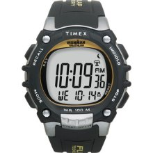 Timex Ironman Traditional 100-lap W/ Flix System - Black/silver/yellow Watch