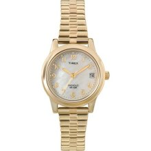 Timex Women's T2M827 Classic Gold-Tone Expansion Band Stainless Steel Bracelet Watch