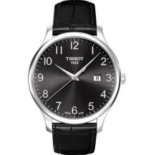 Tissot T0636101605200 Watch Tradition Mens - Black Dial Stainless Steel Case Quartz Movement