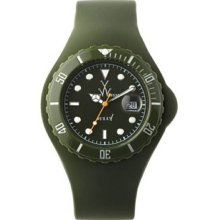 Toy Unisex Jelly Green Plastic Resin Case Green Dial Silicone Strap Date Display Quartz JTB20HG