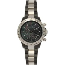 Toy Watch Heavy Metal Plasteramic Silver Chrono Black 11207-SL