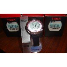 Womens Timex Ironman Triathlon 50 Lap T5k500 Sport Sleek Black Watch $60