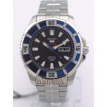 2013 Seiko Japan Made Sport 5 tinc Bezel 24jewels Automatic Men's Watch Srp203j1