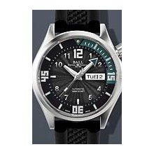 Ball Engineer Master II Diver 2013 42mm Watch - Black/White Dial, Black Rubber Strap DM2020A-PA-BKWH Sale Authentic Tritium