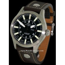 Ball Engineer Master II Aviator 46mm Watch - Black Dial, Brown Leather Strap NM1080C-L1-BK Sale Authentic Tritium
